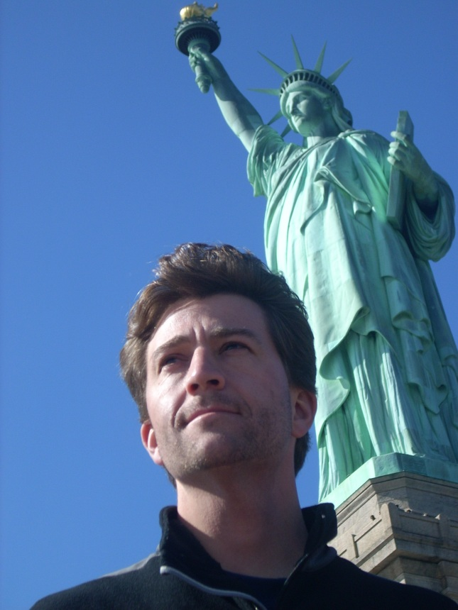 Andrew at Statue of Liberty