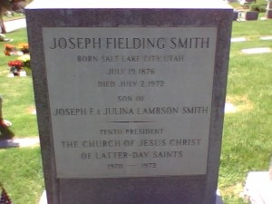 Joseph Fielding Smith, 10th President of LDS Church