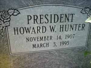 Howard W. Hunter, 14th President of the LDS Church