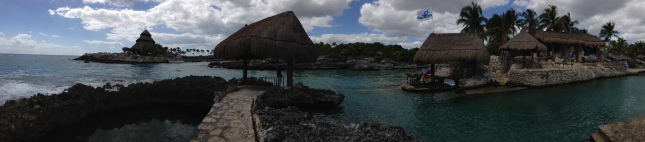 Beautiful view of the beach at Xcaret.