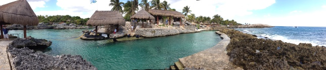 Another view of the beach area of Xcaret.